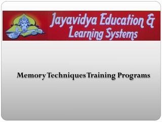 Memory-Techniques-Training