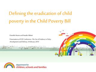 Defining the eradication of child poverty in the Child Poverty Bill