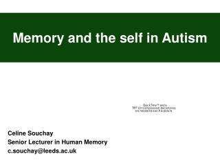 Memory and the self in Autism