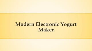 Learn more about making yoghurt here