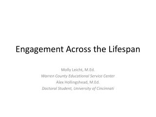 Engagement Across the Lifespan