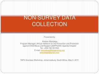 NON-SURVEY DATA COLLECTION