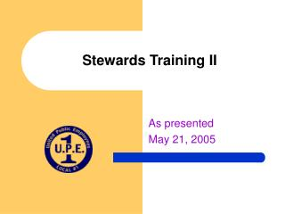 Stewards Training II