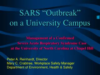 "SARS ""Outbreak"" on a University Campus"
