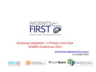 Achieving integration   a Primary Care View SYSMEX Conference 2012