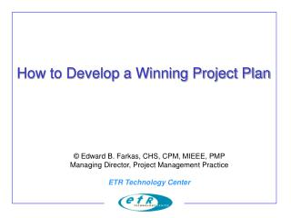 How to Develop a Winning Project Plan