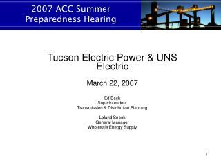 2007 ACC Summer Preparedness Hearing