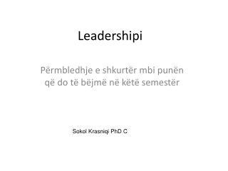 Leadershipi