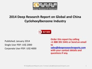 Global and China Cyclohexylbenzene Industry 2014