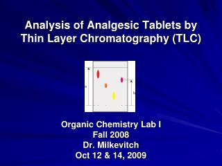 Analysis of Analgesic Tablets by Thin Layer Chromatography (TLC)