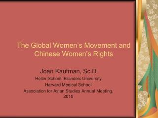 The Global Women's Movement and Chinese Women's Rights
