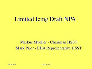 Limited Icing Draft NPA