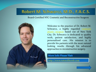 New York City Cosmetic Surgeon | Robert M. Schwarcz, M.D., F