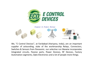 E control Devices Relays
