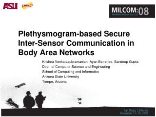Plethysmogram-based Secure Inter-Sensor Communication in Body Area Networks
