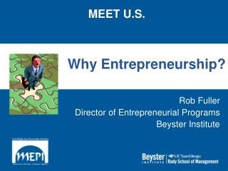 Why Entrepreneurship?