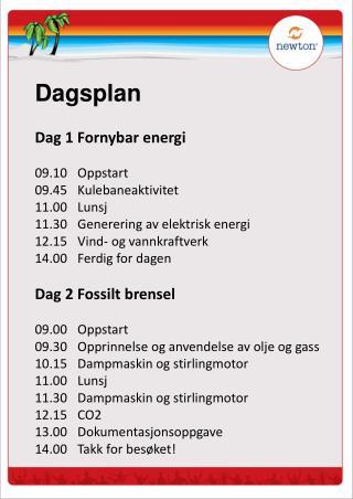 Dagsplan