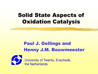 Solid State Aspects of Oxidation Catalysis