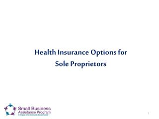 Health Insurance Options for  Sole Proprietors