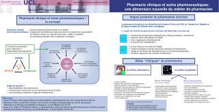Pharmacie clinique et soins pharmaceutiques : le concept