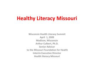Healthy Literacy Missouri