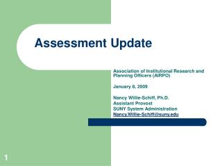 Assessment Update