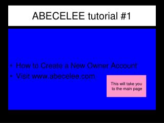 ABECELEE tutorial #1