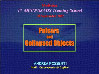 Pulsars  and Collapsed Objects