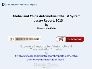 Automotive Exhaust System Industry in China - Latest Report