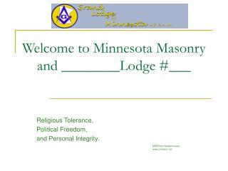 Welcome to Minnesota Masonry and ________Lodge #___