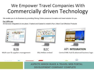 Aspects Which Make a Travel Web Portal Development Company C