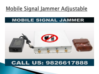 Best Mobile Signal Jammer