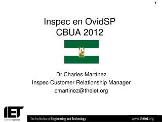 Inspec en OvidSP CBUA 2012