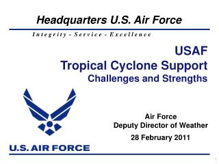 Air Force Deputy Director of Weather 28 February 2011