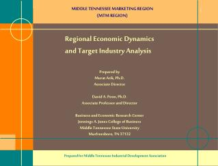 MIDDLE TENNESSEE MARKETING REGION  (MTM REGION)