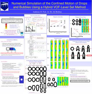 Numerical Simulation of the Confined Motion of Drops and Bubbles Using a Hybrid VOF-Level Set Method