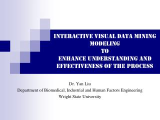 Interactive Visual Data Mining Modeling to Enhance Understanding and  Effectiveness of the Process