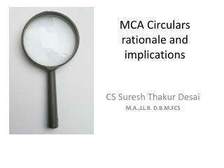 MCA Circulars rationale and implications