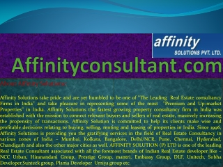 "dlf residential apartments bangalore|""affinityconsultant.com"