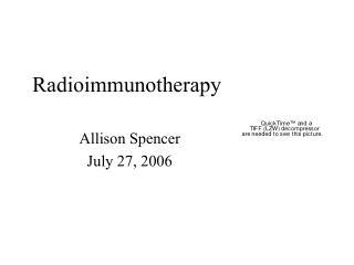 Radioimmunotherapy