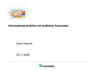 Informationsextraktion mit endlichen Automaten