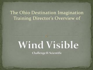 Wind Visible Challenge B: Scientific