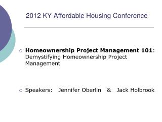 2012 KY Affordable Housing Conference
