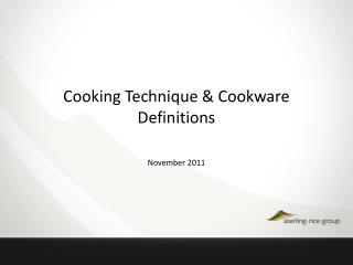 Cooking Technique & Cookware  Definitions