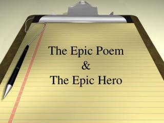 The Epic Poem  The Epic Hero