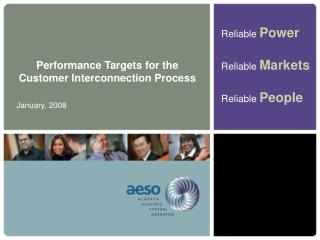 Performance Targets for the Customer Interconnection Process