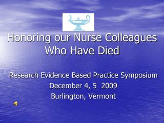Honoring our Nurse Colleagues Who Have Died