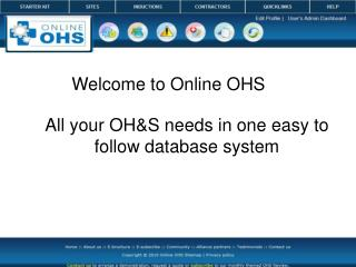Welcome to Online OHS