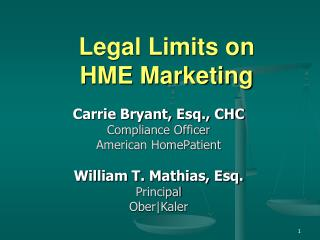 Legal Limits on HME Marketing