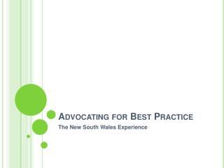Advocating for Best Practice